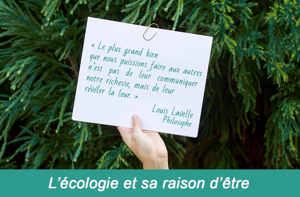 L'écologie et sa raison d'être - Louis Lavelle