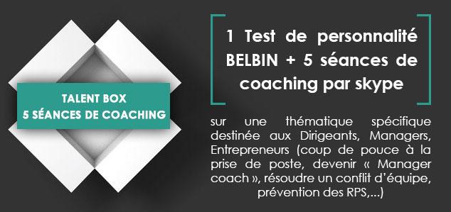 Talent box : 5 séances de coaching pour dirigeants, managers.